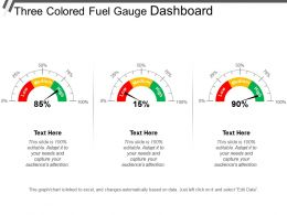 Three Colored Fuel Gauge Dashboard