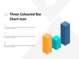 Three Coloured Bar Chart Icon