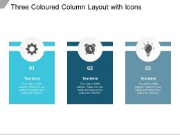 Three Coloured Column Layout With Icons