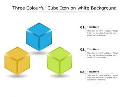 Three Colourful Cube Icon On White Background