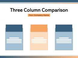 Three Column Comparison Software Revenue Service Features Through Product