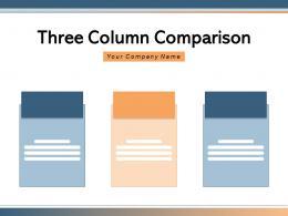 Three Column Comparison Software Revenue Service Features Through Product