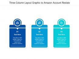 Three Column Layout Graphic To Amazon Account Restate Infographic Template