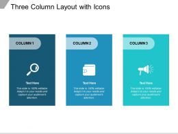 Three Column Layout With Icons