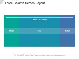 Three Column Screen Layout