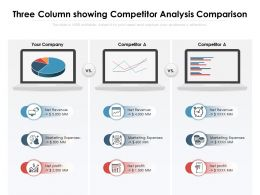 Three Column Showing Competitor Analysis Comparison