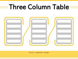 Three Column Table Business Products Comparison Organization Innovation Processing Process