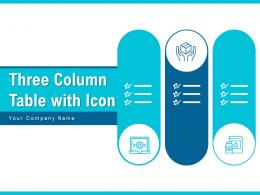 Three Column Table With Icon Product Comparison Software Marketing Subscription Advertising