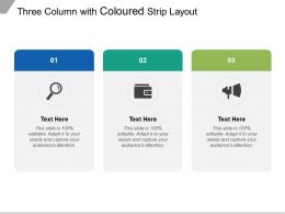 Three Column With Coloured Strip Layout