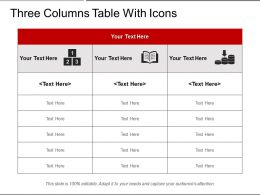 Three Columns Table With Icons