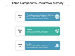 Three Components Declarative Memory Ppt Powerpoint Presentation Model Example File Cpb