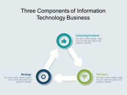 Three Components Of Information Technology Business