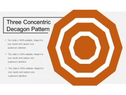 Three Concentric Decagon Pattern