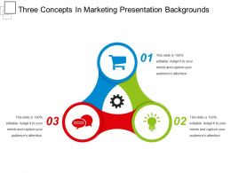 Three Concepts In Marketing Presentation Backgrounds