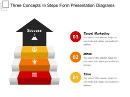 Three Concepts In Steps Form Presentation Diagrams