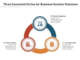 Three Connected Circles For Business Seminar Outcomes
