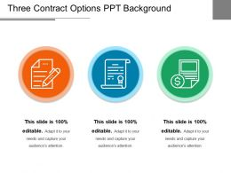 Three Contract Options Ppt Background