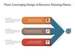 Three Converging Design Of Resource Planning Phases