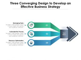 Three Converging Design To Develop An Effective Business Strategy