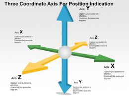 Three Coordinate Axis For Position Indication Flat Powerpoint Design