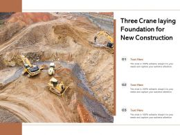Three Crane Laying Foundation For New Construction
