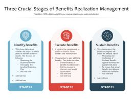Three Crucial Stages Of Benefits Realization Management