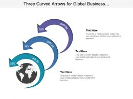 Three Curved Arrows For Global Business Data Representation