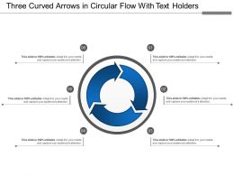 Three Curved Arrows In Circular Flow With Text Holders
