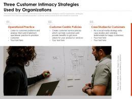 Three Customer Intimacy Strategies Used By Organizations