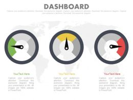 Three Dashboard Charts For Data Segmentation Powerpoint Slides