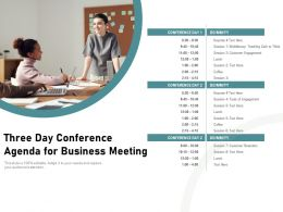 Three Day Conference Agenda For Business Meeting