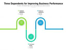 Three Dependents For Improving Business Performance