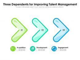 Three Dependents For Improving Talent Management