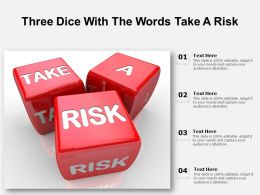 Three Dice With The Words Take A Risk