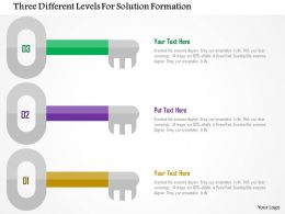 Three Different Levels For Solution Formation Flat Powerpoint Design