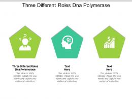 Three Different Roles Dna Polymerase Ppt Powerpoint Presentation Outline Example File Cpb