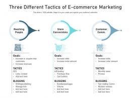 Three Different Tactics Of E Commerce Marketing