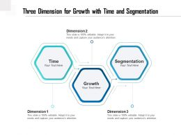 Three Dimension For Growth With Time And Segmentation