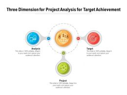 Three Dimension For Project Analysis For Target Achievement