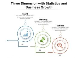 Three Dimension With Statistics And Business Growth