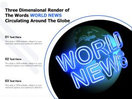 Three Dimensional Render Of The Words World News Circulating Around The Globe