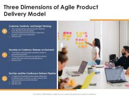 Three Dimensions Of Agile Product Delivery Model