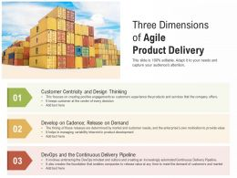 Three Dimensions Of Agile Product Delivery