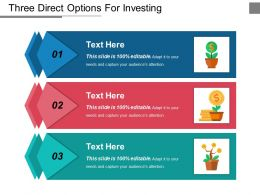 Three Direct Options For Investing Ppt Design