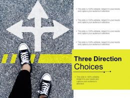 Three Direction Choices