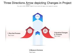 Three Directions Arrow Depicting Changes In Project