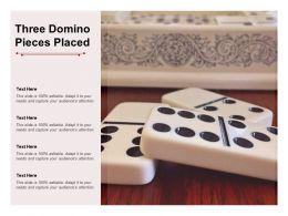 Three Domino Pieces Placed