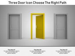 Three Door Icon Choose The Right Path