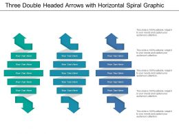 Three Double Headed Arrows With Horizontal Spiral Graphic