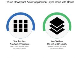 Three Downward Arrow Application Layer Icons With Boxes